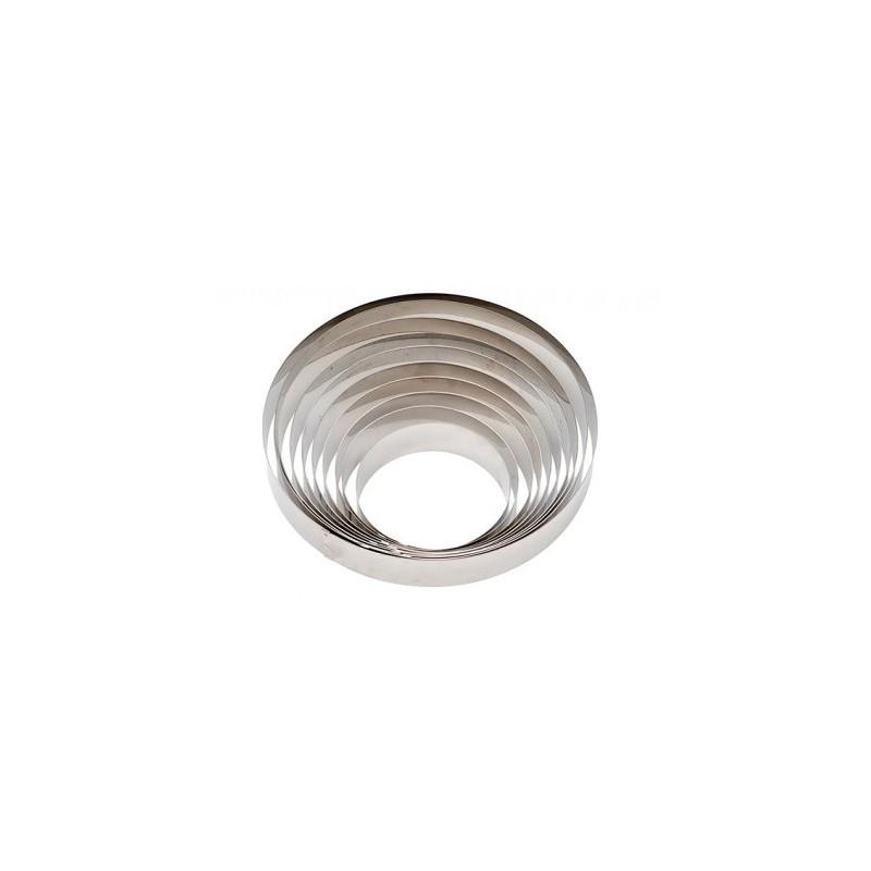 Stainless steel circle ø 20 x h 6 cm Decora