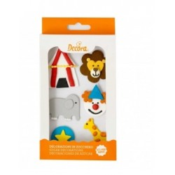Circus Sugar Decoration - 6p - Decora