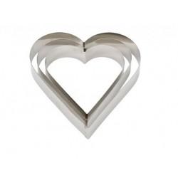 Coeur inox - 22X H4.5 cm - Decora