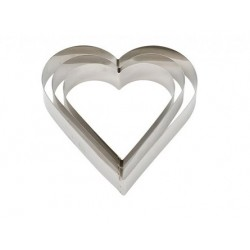 Stainless steel heart - 22X H4.5 cm - Decora