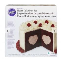 Set de moules à gâteau avec coeur Wilton