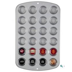 Moule 24 mini cupcakes anti-adhérents  Wilton - 40 x 25cm Ø 3.5cm