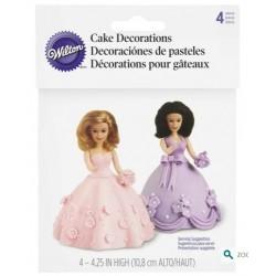 Wilton mini doll cake topper set - 4p