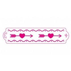 Stencil amour - Decora - 7x 30 cm