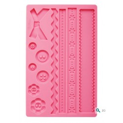 Fondant and sugar paste silicone mold - fabric - Wilton