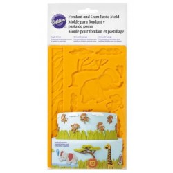 Fondant and sugar paste silicone mold - jungle animals - Wilton
