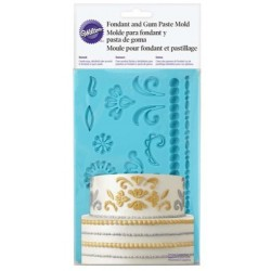 Fondant and sugar paste silicone mold - damask - Wilton