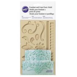Fondant and sugar paste silicone mold - lace - Wilton