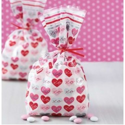 20 Bags with Valentine hearts - Wilton - 10.1 x 5 x 24.1 cm