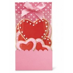 6 valentine bags with ribbons and inserts - Wilton - 8.9 x 4.8 x 17 cm