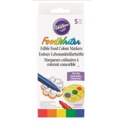 Wilton edible food colour markers - 5p