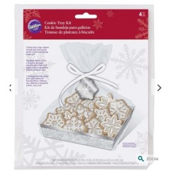 4 Plateaux et sacs à biscuits- flocons de neige - Wilton - 20.3 x 19 x 50.8 cm