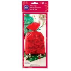 20 Sacs de Noël - verts et rouges - Wilton - 10.1 x 5.08 x 24.1 cm