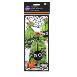 20 Sacs Halloween - araignée - Wilton - 10.1 x 5 x 24.1 cm