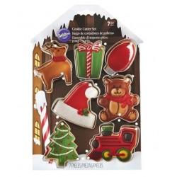 Ensemble d'emporte-pièce pour biscuits de Noël - Wilton - 7p