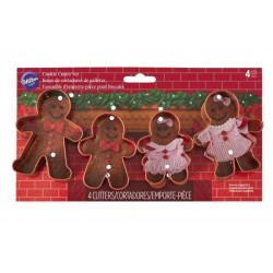 Gingerbread family cookie cutter set - Wilton - 4p - 10cm