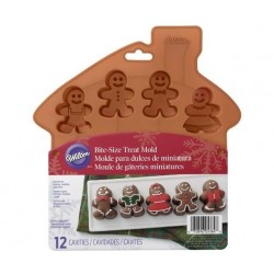 Gingerbread boy silicone mould - Wilton - 12 cavities