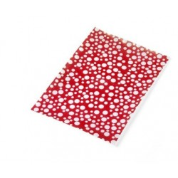 wafer paper red with white dots of Saracino: 3 A4 sheets of 0.27 mm
