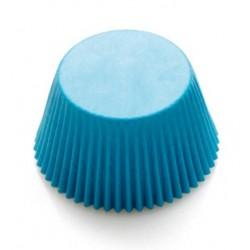 Caissettes à cupcake couleur bleu - 75p - 50 x 32 mm - Decora