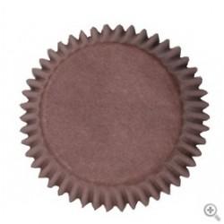 Caissettes à cupcake couleur marron - 50pcs - 50 mm - Culpitt