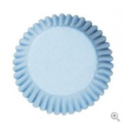 Caissettes à cupcake couleur bleu - 50pcs - 50 mm - Culpitt