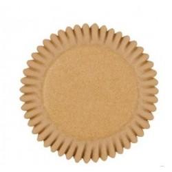 Mini cupcakecups paper - beige - 100pcs - 3.2 cm Ø - Wilton