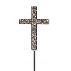 Diamante cross topper - Culpitt