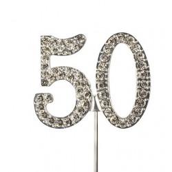 Topper diamante number 50 - Culpitt