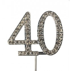 Topper diamant numéro 40 - Culpitt