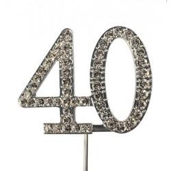 Topper diamante number 40 - Culpitt