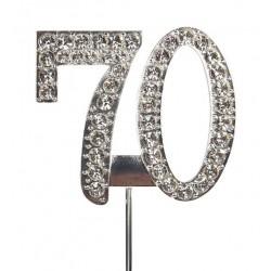 Topper diamante number 70 - Culpitt