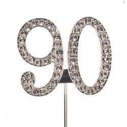 Topper diamant numéro 90 - Culpitt