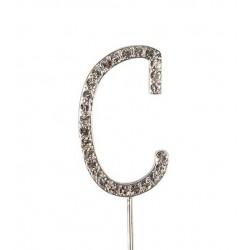 Topper lettre de diamant C - Culpitt
