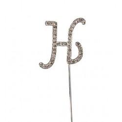 Topper lettre de diamant H - Culpitt