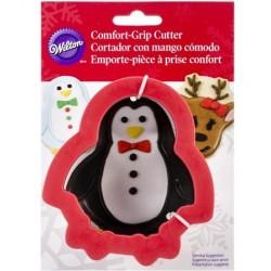 Comfort Grip Metal Cookie Cutter - Penguin and Reindeer - Wilton