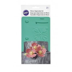 Set of 2 molds for sugar paste flowers with centers and pistils - Wilton