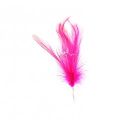 Hot pink - diamante - feather - 6p - Culpitt