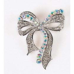 Bow Diamante Brooch - Culpitt
