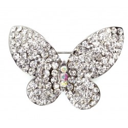 Butterfly Diamante Brooch - Culpitt