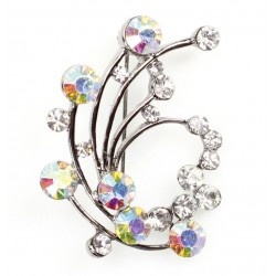 Swirl Diamante Brooch - Culpitt