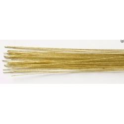50 florist wires - 24 gold - Culpitt