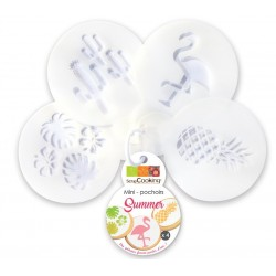 4 mini stencils Summer - ScrapCooking