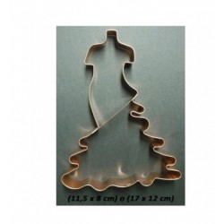 Découpoir de cuivre robe de flamenco - 11.5 x 8  cm - Cutters Pepe