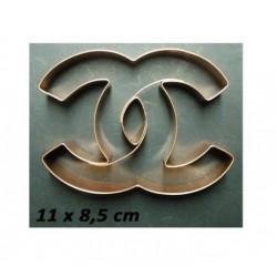 Découpoir de cuivre Chanel - 11 x 8.5 cm - Cutters Pepe