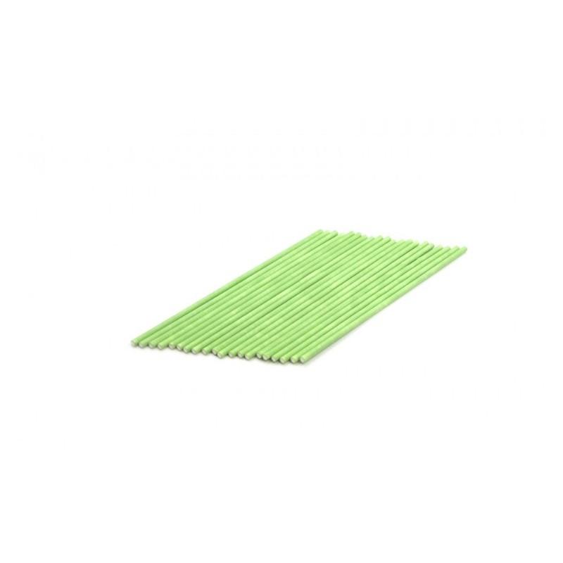 Pack 20 cake pop sticks - green - H 15 cm