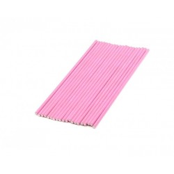 Pack 20 cake pop sticks - rose - H 15 cm