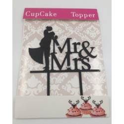 Cake acrylic topper - MR & MRS 1