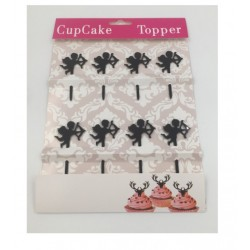 Cupcake mini topper acrylique - Cupidon - 8p