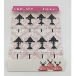 Cupcake mini acrylic topper - lamp - 8p