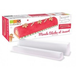 Yule log mold and reusable insert - ScrapCooking